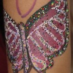 Purple Monarch Butterfly Painting