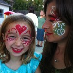 Daughter and Mom Glitter Masks - facepainting