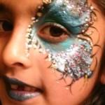 Metallic Mardi Gras Eye & Lip Painting