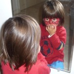 Mommy, I'm a Spidergirl - Spidy Mask Face Painting