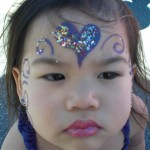 Purple hearts darling Princess - Facepainting