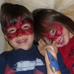 spiderman kids face painting